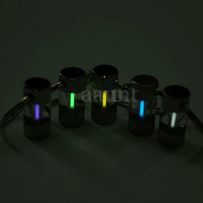 Stainless Steel Keychain Self Illuminating GLOW LIGHT 15 yrs Tritium Marker SAFE