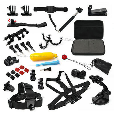 34in1 Accessories Pack Case Head Chest Monopod Surf Mount for GoPro Hero 4 3+ 3
