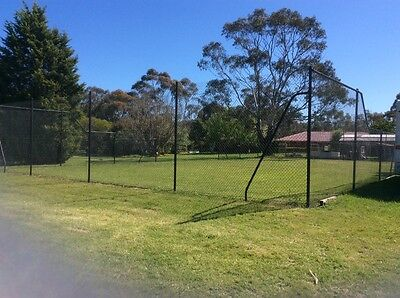 Tennis Court Fence /posts, PVC coated chain mesh