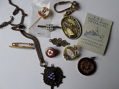 Sussex Rifle Association Queen Mary propellor key At Anchor tie pin LAMDA medal
