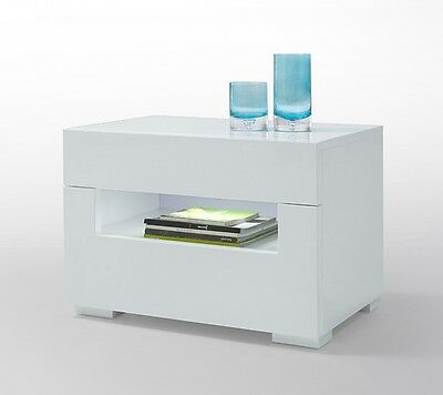 Modrest Ceres - Modern LED White Lacquer Nightstand by VIG Furniture