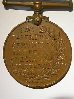 Medal For Faithful Service In Special Constabulary - Edward S Maxwell - Ww1