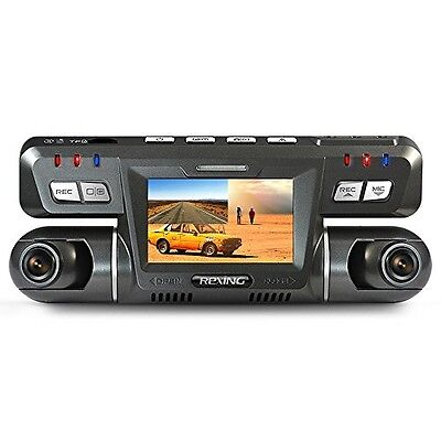 REXING G600 Dash Cam Dual Front and Rear with 265 Degree Angle 1080P HD