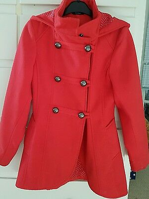 Girls red coat 8-9yrs George