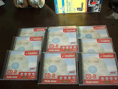 10 New Imation CD-R 700mb Blank Recordable Disk