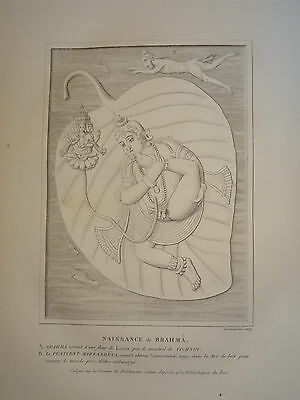 William DANIELL ENGRAVING ORNAMENT BORN BRAHMA VICHU INDIA HINDOUSTAN 1820