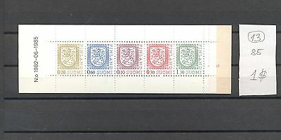 Finland 1985 MNH booklet.Five stamps Definitives.See scan.