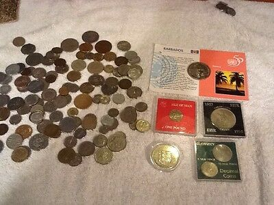 World  Mixed Coin Collection, Crowns, Etc...