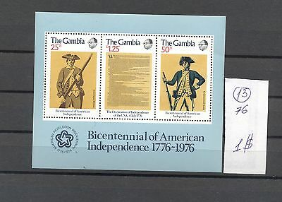 Gambia 1976 MNH s/sh.200 Years USA.See scan.