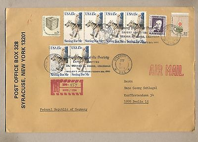 United States 1979 Used R-cover.Send to West Germany.See scan.Lot 7.