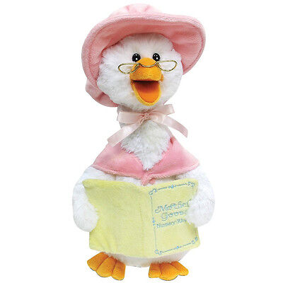 14in Mother Goose Animated Plush Talking Soft Toy Reads 7 Nursery Rhymes