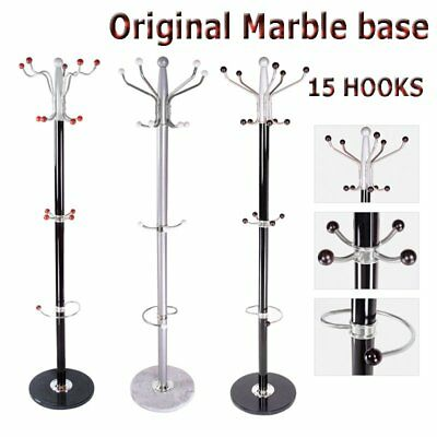 Tree Style 15 Hooks Hat Coat Clothes Rack Metal Umbrella Stand Solid Base Ring