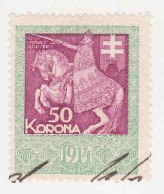 1914 Austria Hungary revenue stamp 50 Korona