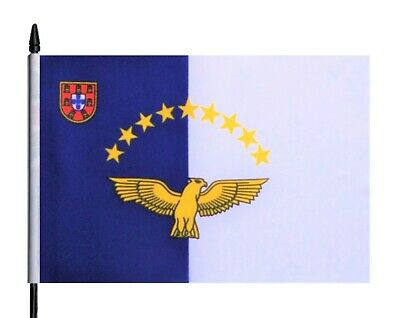 Portugal The Azores Medium Hand Waving Flag