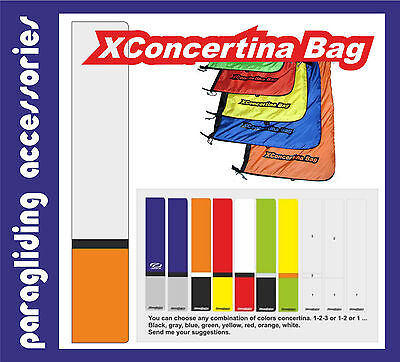 "5 items Paragliding bag. Sac de parapente. NEW! ""XConcertina bag"""