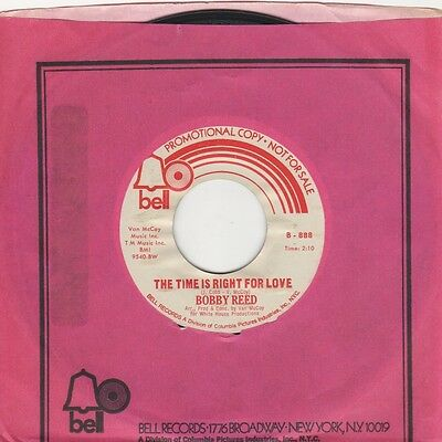 Bobby Reed - Time Is Right For Love / If I Dont - Bell Demo - Northern Soul Cros