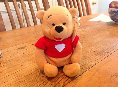The Disney Store Winnie The Pooh Soft Toy Excellent Condition With Tags