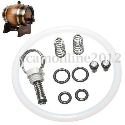10Pcs Beer Barrel Replacement Keg Seal Kit With Poppet Pressure Release Valve