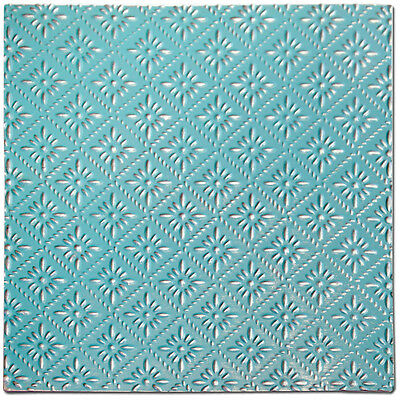 """Salvaged Tin Ceiling Tile 12""""X12""""-Turquoise Rosette TCT-TRQRO"""