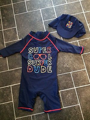 12-18 Months Swimsuit With Hat Cute! Brand New