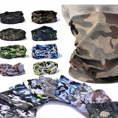 Multi-Function Camo Tube Scarf Headbands Face Mask Warmer Bandana Headwear Snood