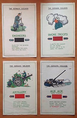 "4 x ORIGINAL WWII BRITISH HOME FRONT INTELLIGENCE GUIDES: ""THE GERMAN SOLDIER"""