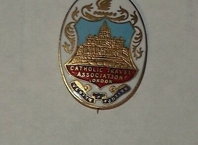 Enamel Badge - Catholic Travel Association, London
