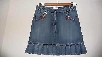 "Denny Rose Young Italian Designer Girls' Denim Skirt Embellished 28""waist"