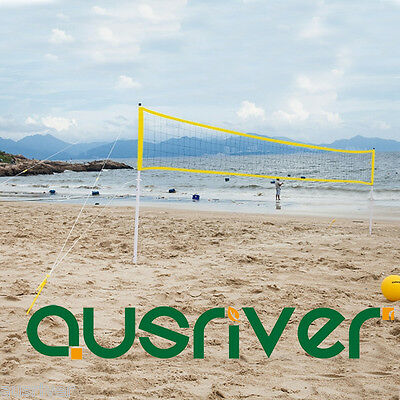 Portable Outdoor Beach Game Volleyball Net Mesh Storage Carry Bag Yellow