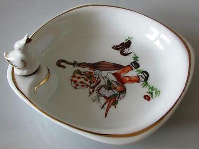 """Child's Dish Which Can Be Heated Original Stopper """"Colombia Veritable Porcelain"""""""