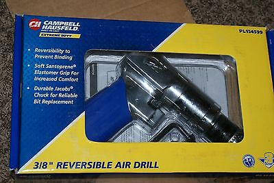 "PL154599 Cambell Hausfeld 3/8"" Reversible Air Drill NEW"
