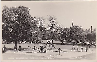 Burgess Hill Postcard of Children's Playground on St John's Common