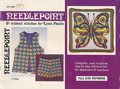 """1970s VINTAGE """"NEEDLEPOINT AND RELATED STITCHES"""" EMBROIDERY BOOKLET"""