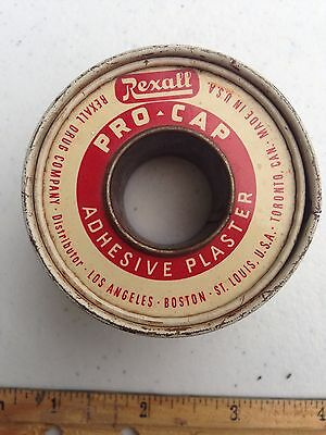 Vintage REXALL Drug Store Tin - ADHESIVE PLASTER - Tape. MEDICAL. Free Shipping!