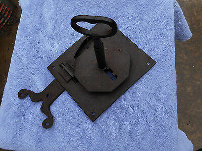 Blacksmith Forged 18Th-19Th Century Lock Key And Latch Set Working Set