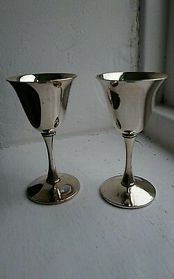 valero silver plated goblets