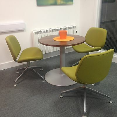 Round 80Cm Office Table And 3 Chairs