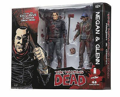 The Walking Dead Comic Series Actionfigurenset: Negan & Glenn (color and bloody