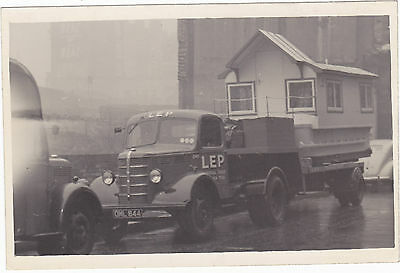Genuine Real Photo Postcard size Lep Transport Lorry House OML 844 c1930s