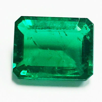 BEAUTIFUL 4.30 Ct COLOMBIAN GREEN COLOR BIRON LAB CREATED GEMSTONE