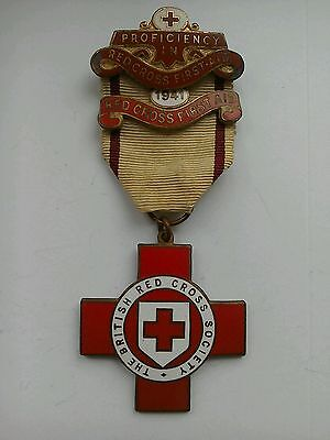 British Red Cross Society Proficiency in First Aid 1941 Medal Medallion 03684