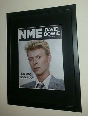 David Bowie Framed Nme Magazine