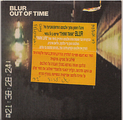 Blur Out Of Time Israeli Promo Cd Very Rare