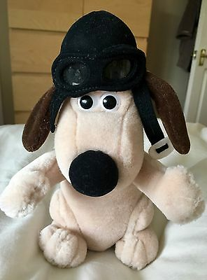 GROMIT soft and cuddly with his pilot hat and goggles on
