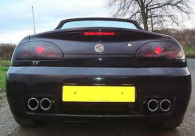 Rover Mgf & Mg Tf Rear Tail Lights Black Lexus Style - Smoked Lens