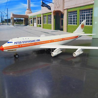 Boeing 747 Peter Stuyvesant line made in Germany {Schuco #1025} As is model Rare