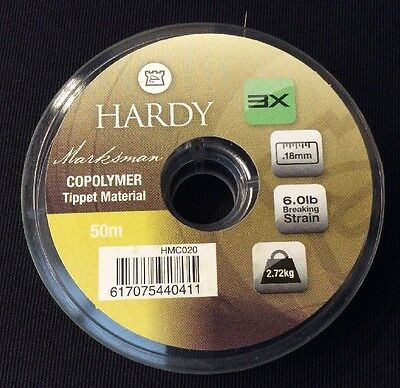 Hardy Marksman Copolymer Tippet Material 6.0lb 50m x5 Spools