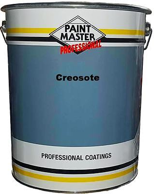 Paintmaster Heavy Duty Creosote Paint - 20 Litres - Dark Brown