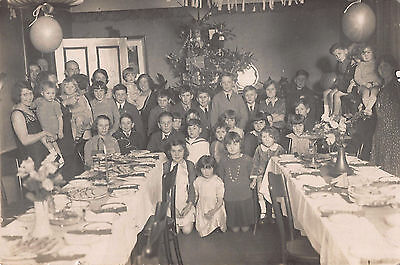 Vintage Kent & Sussex Courier Photo~ Children's Xmas Party Meal ~Tree & Presents