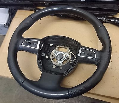 Audi A3 8P 2008 - 2012 Leather Multifunction Steering Wheel 8R0419091Ftna